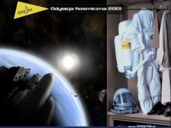 Tapeta na pulpit promująca akcję Odyseja Kosmiczna 2001