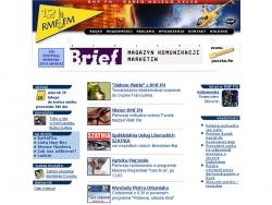 Zrzut strony głównej RMF FM z lutego 2000