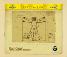 Layout serwisu Sekret na Lato - strona główna (2004)