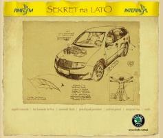 Layout serwisu Sekret na Lato - wygraj samochód (2004)