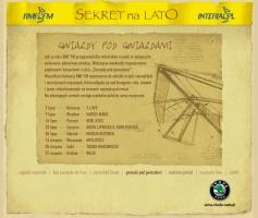 Layout serwisu Sekret na Lato - koncerty (2004)