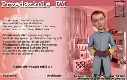 Jedna z pierwszych stron internetowych programu Wstawaj, szkoda dnia. Na ilustracji Tadeusz Sołtys (2000)
