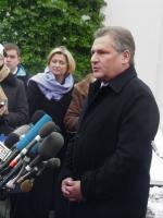 Aleksander Kwaśniewski podczas wizyty w Waszyngtonie