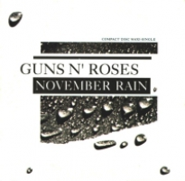 Okładka singla Guns'N'Roses <i>November Rain</i>