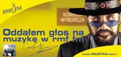 Plakat kampanii Oddałem głos na muzykę w RMF FM