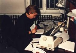 Ewa Stykowska w pierwszym newsroomie