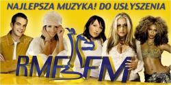 Plakat kampanii Najlepsza muzyka! Do usłyszenia w RMF FM