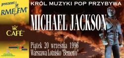 Plakat promujący koncert Michaela Jacksona