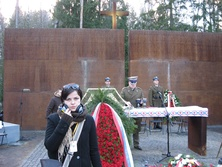 Małgorzata Steckiewicz w Katyniu (fot. Tomasz Miąsik)