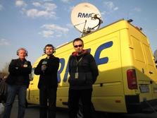 Ekipa RMF FM w Moskwie: Paweł Świąder, Mariusz Piekarski i Michał Dukaczewski