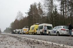 Postój na drodze nr 20 w Rosji (fot. Michał Dukaczewski)