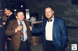 Paweł Goldsztajn i prof. Tomaszem Goban-Klas - 5-lecie RMF FM