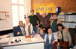 Paweł Goldsztajn i zespół Promocji RMF FM 1995