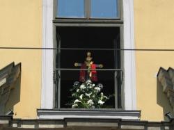 Ul. Franciszkańska w Krakowie po śmierci Jana Pawła II