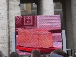 Trumna z ciałem Jana Pawła II