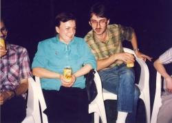 Impreza u Piotra Metza: K. Suder i T. Sołtys