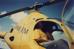J. Polewka w helikopterze RMF FM