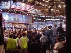Konwencja wyborcza Demokratów w Bostonie - przemawia Bill Clinton (26 lipca 2004 r.)