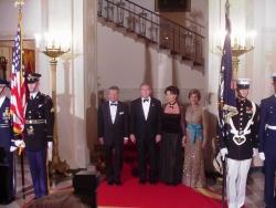 Obiad Państwowy ku czci Aleksandra Kwaśniewskiego w Białym Domu (17 lipca 2002 r.)