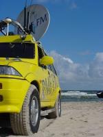 Satelita Trójmiasto na plaży