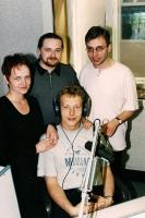 K. Motas, P. Sabryła, K. Powrózek, siedzi P. Balazs (1998)